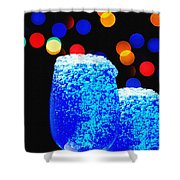 Celebrations With Blue Lagon Shower Curtain