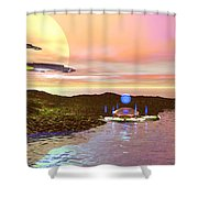 Celeron 3 Shower Curtain