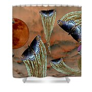 Celestial Butterflies Shower Curtain