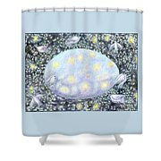 Celestial Egg Shower Curtain