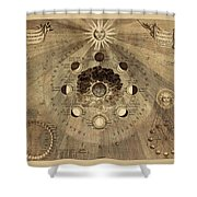 Celestial Map 1710b Shower Curtain