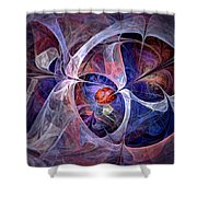 Celestial North - Fractal Art Shower Curtain