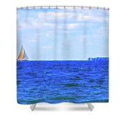 Celestial Skies Sailing The Blue Shower Curtain