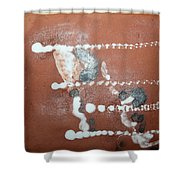 Celia And Brian  - Tile Shower Curtain