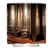 Modern Wine Cellar  Shower Curtain