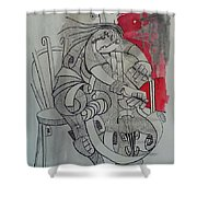 Cellist 01 Shower Curtain