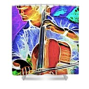 Cello Shower Curtain by Stephen Younts