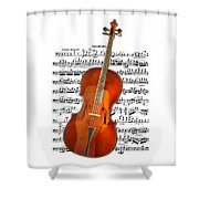 Cello With Clara Bow Shower Curtain