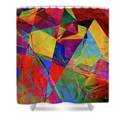 Cellophane Geometry Shower Curtain