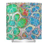 Cells 11 - Abstract Painting  Shower Curtain