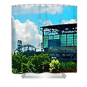 Cellular Field Shower Curtain