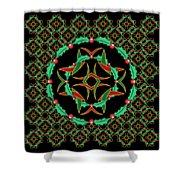 Celtic Christmas Holly Wreath Shower Curtain