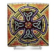 Celtic Cross 2 Shower Curtain