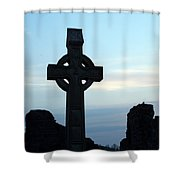Celtic Cross At Sunset Donegal Ireland Shower Curtain