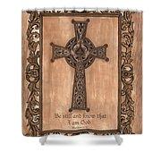 Celtic Cross Shower Curtain by Debbie DeWitt