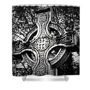 Celtic Cross Detail Killarney Ireland Shower Curtain