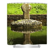 Ancient Celtic Cross At St Patrick Well Shower Curtain