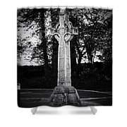 Celtic Cross In Killarney Ireland Shower Curtain by Teresa Mucha