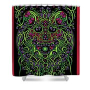 Celtic Day Of The Dead Skull Shower Curtain