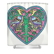 Celtic Heart Shower Curtain