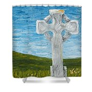 Celtic High Cross Shower Curtain