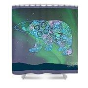 Celtic Polar Bear Shower Curtain