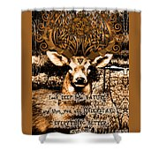 Celtic Stag Shower Curtain