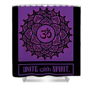 Celtic Tribal Crown Chakra Shower Curtain