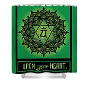 Celtic Tribal Heart Chakra Shower Curtain