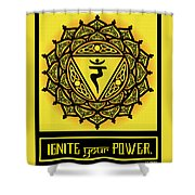 Celtic Tribal Solar Plexus Chakra Shower Curtain