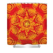 Celtic Tribal Sun Shower Curtain