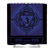 Celtic Tribal Third Eye Chakra Shower Curtain