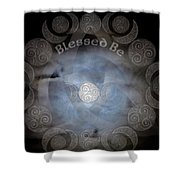 Celtic Triple Moon Goddess Mandala Shower Curtain
