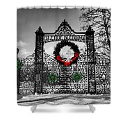 Celtic Yuletide Blessings Shower Curtain