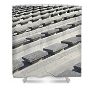 Cement Seats Shower Curtain
