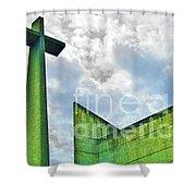 Cement Worship Shower Curtain