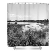 Cemetary Point Boardwalk Shower Curtain