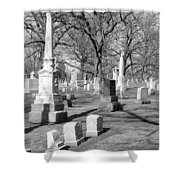 Cemetery 3 Shower Curtain