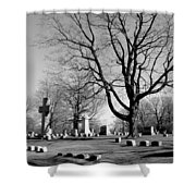 Cemetery 5 Shower Curtain