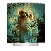 Cemetery Angel Shower Curtain
