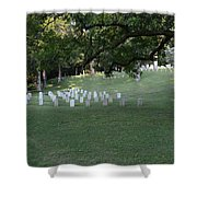 Cemetery At Shiloh National Military Park In Tennessee Shower Curtain