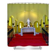 Cemetery Chapel Shower Curtain