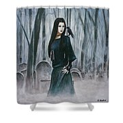 Cemetery Chic Shower Curtain