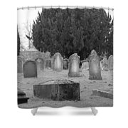 Cemetery Church Of St. Mary Wedmore Shower Curtain