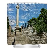 Cemetery Entrance And Lovejoy Monument  Shower Curtain
