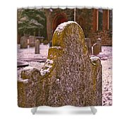 Cemetery Headstone  Shower Curtain