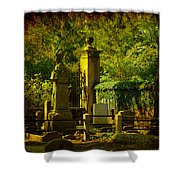 Cemetery In Charleston Shower Curtain