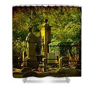 Cemetery In Charleston Shower Curtain
