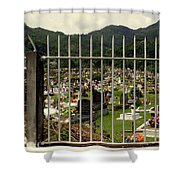Cemetery In Seychelles Islands Shower Curtain