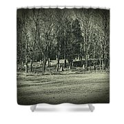 Cemetery In The Woods Shower Curtain